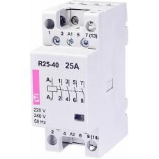 Контактор модульний ETI R-25-40 25А 230V AC 4NO (2462310)