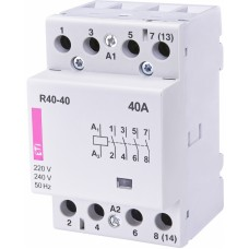 Контактор модульний ETI R-40-40 40А 230V AC 4NO (2463410)