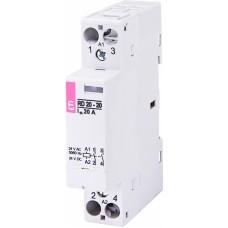 Контактор модульний ETI RD-20-20 20А 24V AC/DC 2NO (2464005)