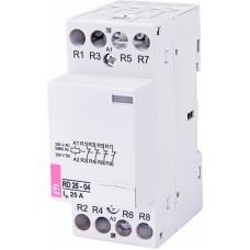 Контактор модульний ETI RD-25-04 25А 230V AC/DC 4NC (2464016)