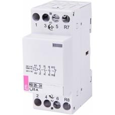Контактор модульний ETI RD-25-31 25А 230V AC/DC 3NO + 1NC (2464012)