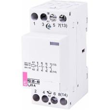 Контактор модульний ETI RD-25-40 25А 230V AC/DC 4NO (2464010)