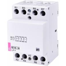 Контактор модульний ETI RD-40-04 40А 230V AC/DC 4NC (2464024)