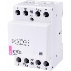 Контактор модульний ETI RD-40-22 40А 230V AC/DC 2NO + 2NC (2464022)