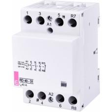 Контактор модульний ETI RD-40-31 40А 230V AC/DC 3NO + 1NC (2464020)