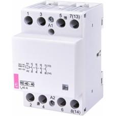 Контактор модульний ETI RD-40-40 40А 230V AC/DC 4NO (2464018)