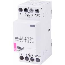 Контактор модульний ETI RD-25-40 25А 24V AC/DC 4NO (2464011)