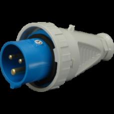 Вилка кабельна IVG 1632, IP67 (16A, 230V, 2P + PE) SEZ
