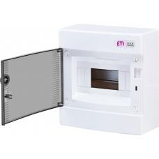 Навісний розподільчий щит ETI ECT8PT IP40 на 8 модулів 1101000